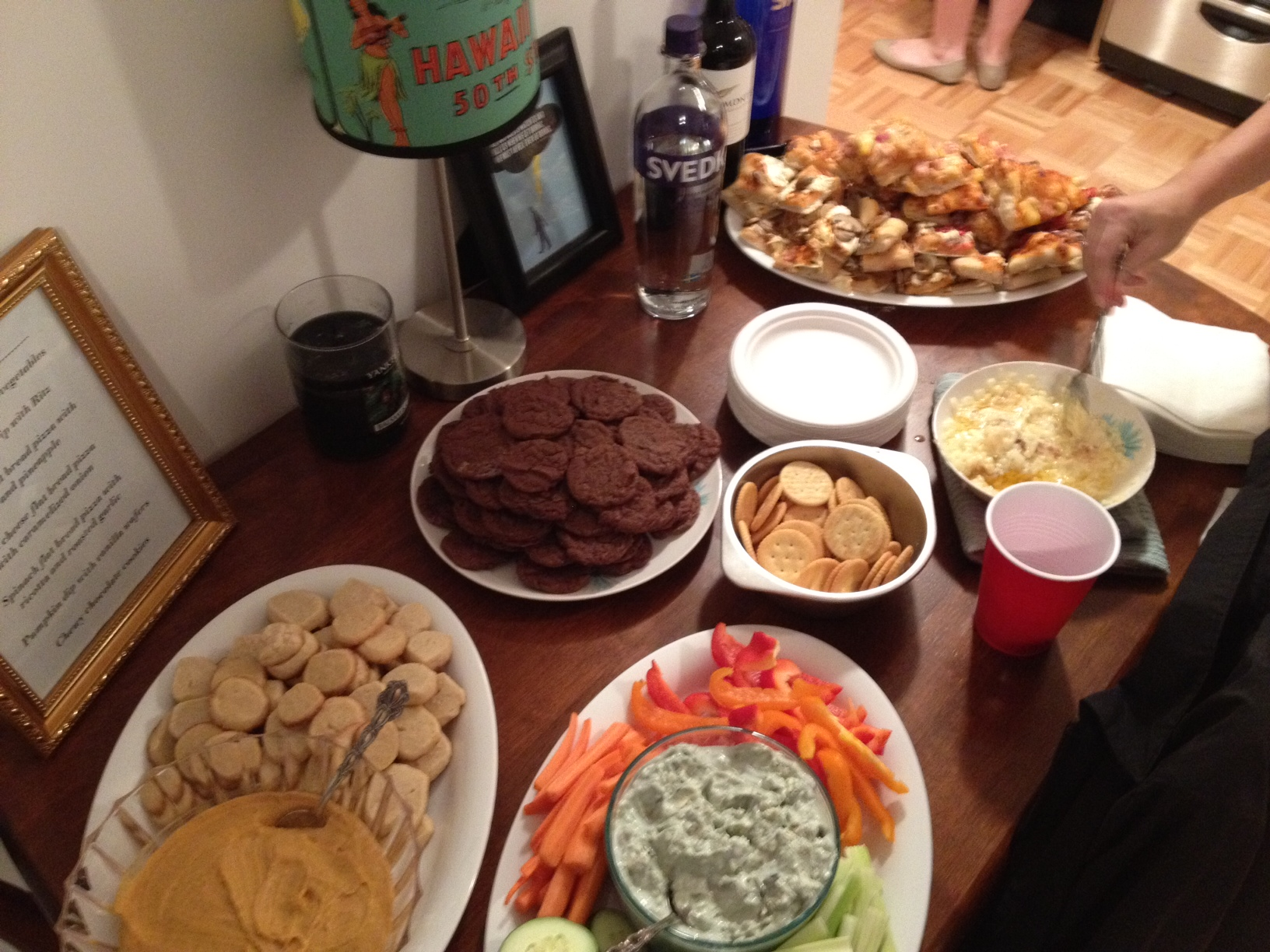how to throw a house party and make friends while you re On housewarming food list
