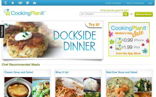 Cooking Planit screen grab