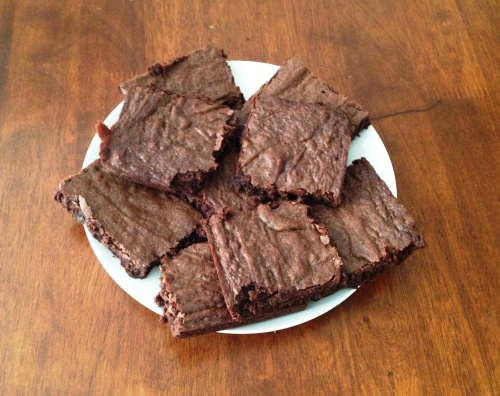 Fudgy chocolate brownies from LaurenFoodE