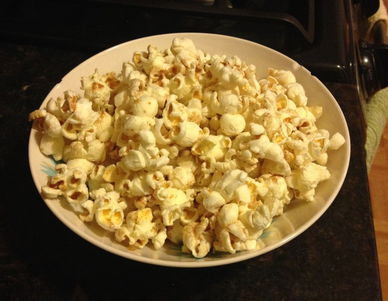 Maple brown butter pumpkin spice popcorn