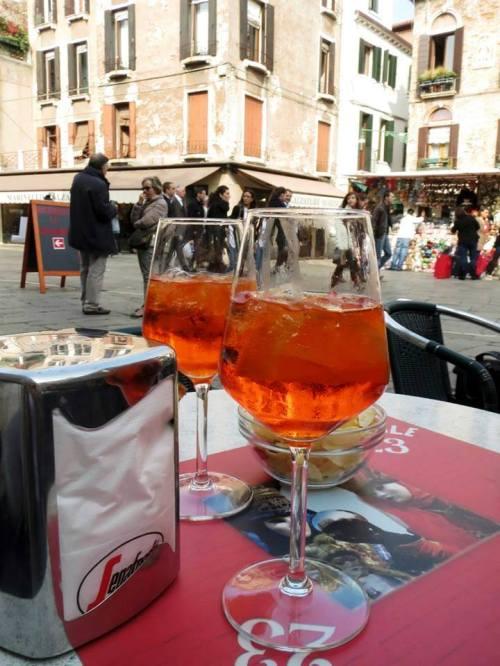 Spritz in Venice near Teatro Italia